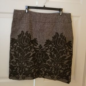 Rafaella Black Tweed Skirt w Black design Size 16